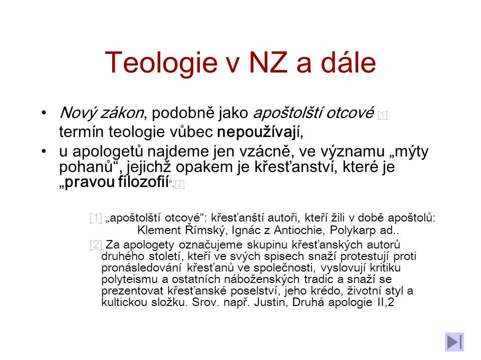 Teologie v NZ a dále Nový zákon, podobně jako apoštolští otcové [1]